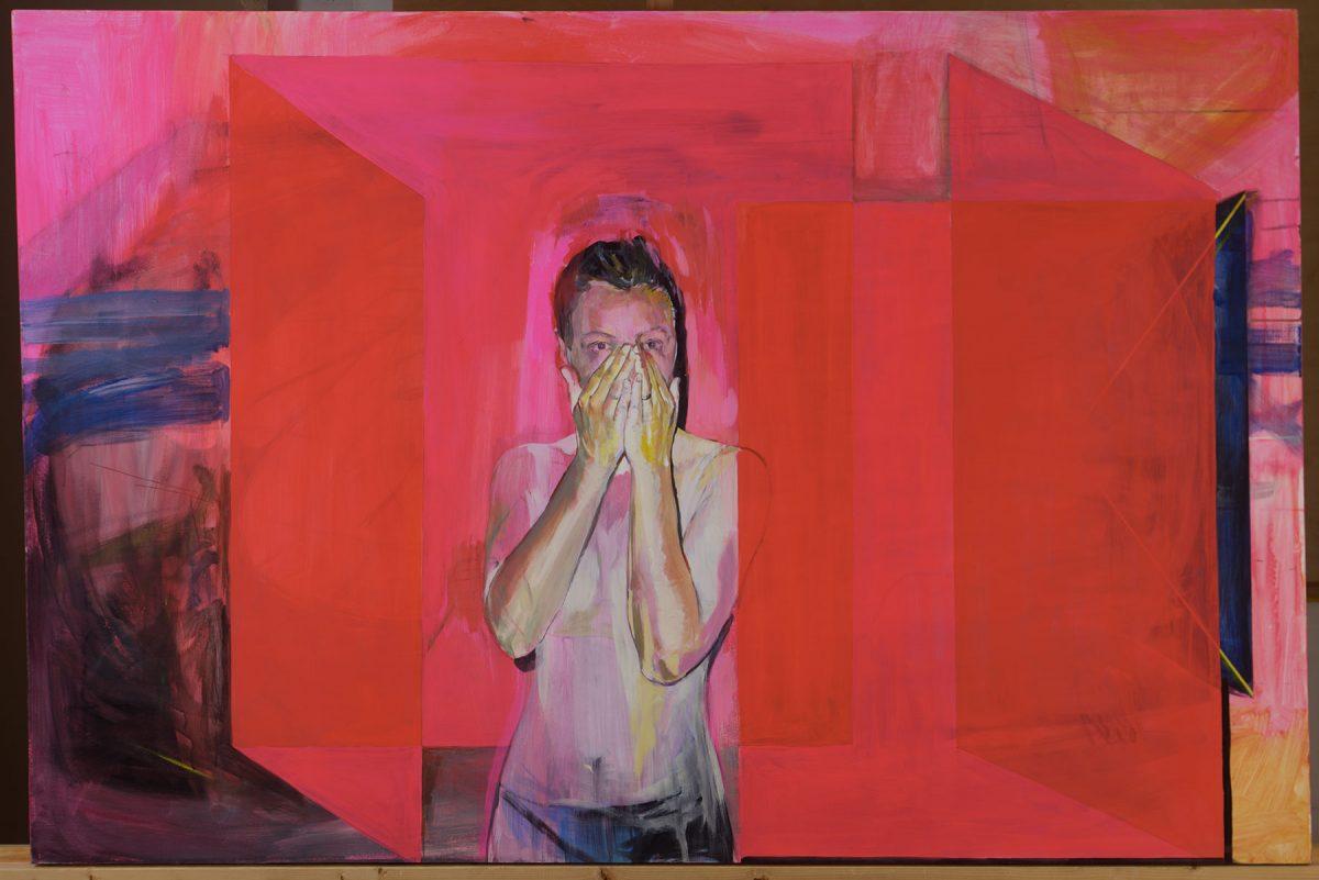 Scream in pink space