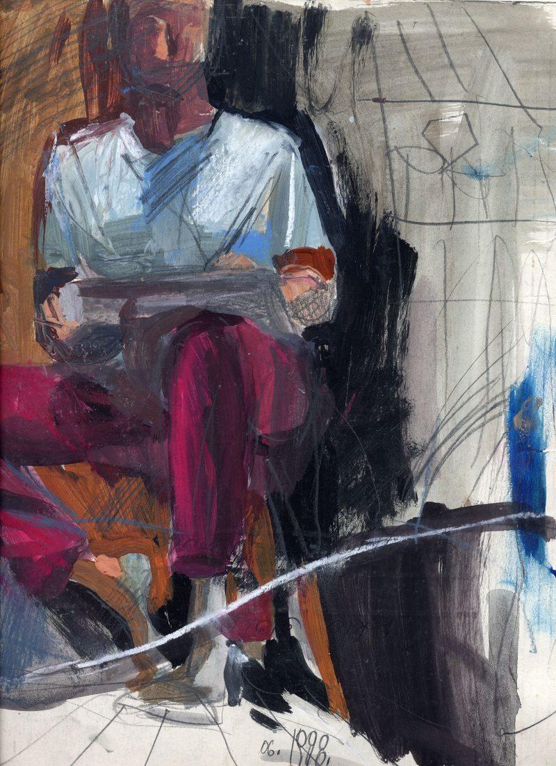 Figure with broken mirror 1